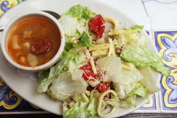 What's the name of the iconic salad made at the Colombia Restaurant?