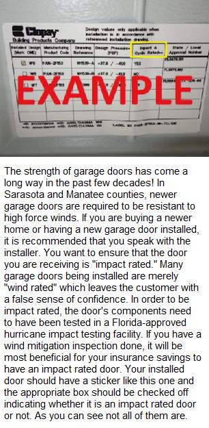 Garage Door Hurricane Label, image
