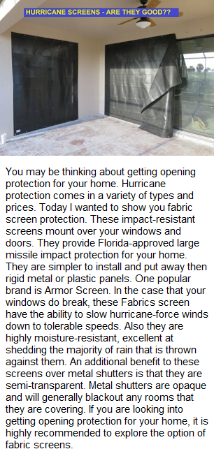 Hurricane Fabric Screens, image